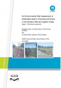An Environmental Risk Assessment of Herbicides ...
