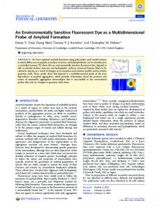 An Environmentally Sensitive Fluorescent Dye as a ... - ACS Publications