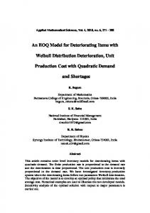 An EOQ Model for Deteriorating Items with Weibull Distribution