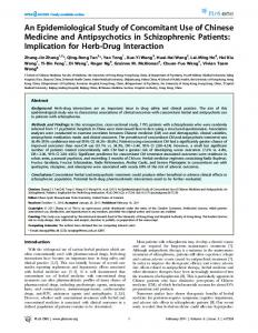 An Epidemiological Study of Concomitant Use of ... - Semantic Scholar