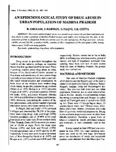 an epidemiological study of drug abuse in urban ... - Semantic Scholar