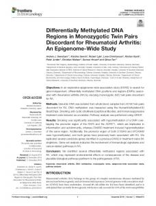 An Epigenome-Wide Study