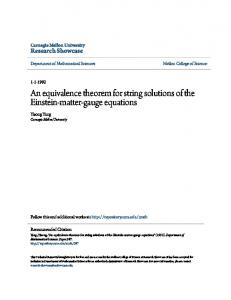 An equivalence theorem for string solutions of the