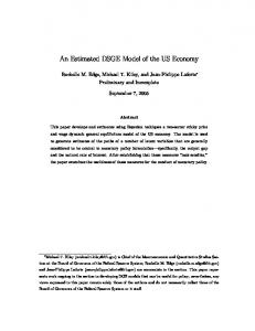An Estimated DSGE Model of the US Economy - Federal Reserve ...