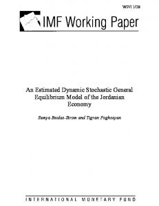 An Estimated Dynamic Stochastic General Equilibrium Model of ... - IMF