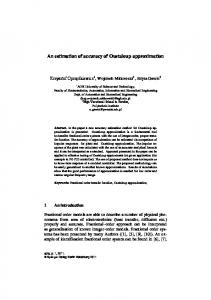 An estimation of accuracy of Oustaloup approximation