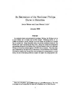 An Estimation of the Nonlinear Phillips Curve in Colombia - CiteSeerX