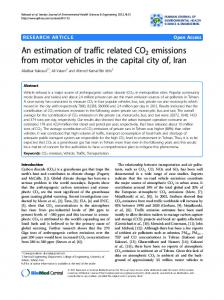 An estimation of traffic related CO2 emissions from ... - Springer Link