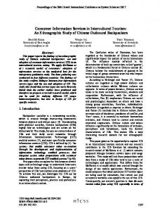 An Ethnographic Study of Chinese Outbound ... - Semantic Scholar