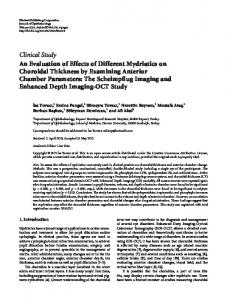 An Evaluation of Effects of Different Mydriatics on Choroidal Thickness ...