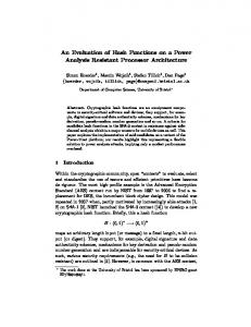 An Evaluation of Hash Functions on a Power Analysis Resistant ...