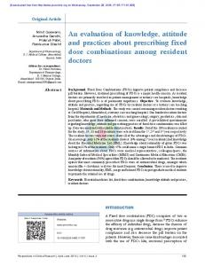 An evaluation of knowledge, attitude and practices