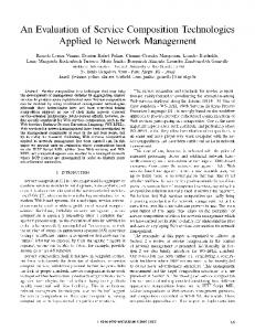 An Evaluation of Service Composition Technologies Applied ... - UFRGS
