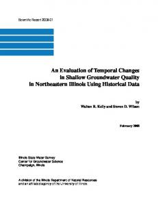 An Evaluation of Temporal Changes in Shallow Groundwater Quality ...