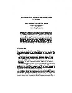 An Evaluation of the Usefulness of Case-Based Explanation - CiteSeerX