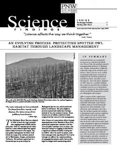 an evolving process: protecting spotted owl habitat