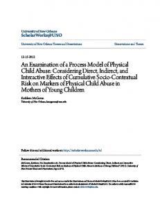 An Examination of a Process Model of Physical Child Abuse ...