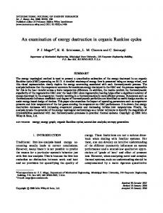 An examination of exergy destruction in organic ... - Wiley Online Library