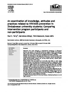An examination of knowledge, attitudes and practices related to HIV ...