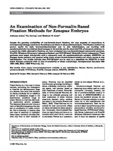 An examination of non-formalin-based fixation ... - Wiley Online Library