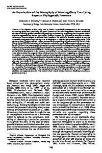 An Examination of the Monophyly of Morning Glory Taxa ... - CiteSeerX
