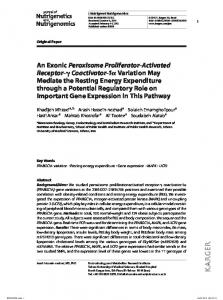 An Exonic Peroxisome Proliferator-Activated Receptor ...