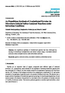 An Expeditious Synthesis of N-substituted Pyrroles ... - Semantic Scholar