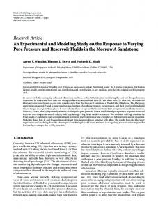 An Experimental and Modeling Study on the Response to Varying ...