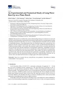 An Experimental and Numerical Study of Long ... - Semantic Scholar