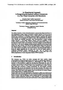 An Experimental Approach in Recognizing ... - Semantic Scholar