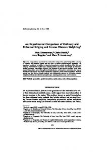 An Experimental Comparison of Ordinary and Universal Kriging and ...