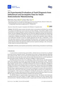 An Experimental Evaluation of Fault Diagnosis from ... - MDPI