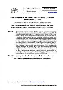an experimental evaluation of sustainable drainage systems