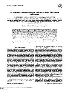 An Experimental Investigation of the Resistance ... - Annals of Botany