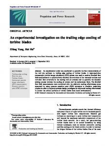 An experimental investigation on the trailing edge ... - Semantic Scholar