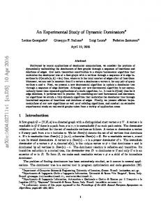 An Experimental Study of Dynamic Dominators