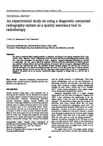 An experimental study on using a diagnostic computed ... - Springer Link