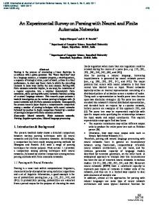 An Experimental Survey on Parsing with Neural and Finite Automata ...