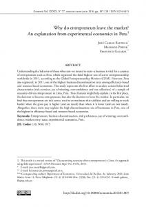 An explanation from experimental economics in Peru - Revistas PUCP