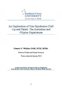 An Exploration of Non-Syndromic Cleft Lip and Palate