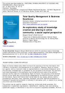 An exploratory study of knowledge creation and sharing in online ...