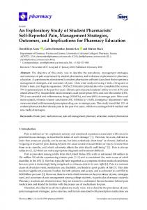 An Exploratory Study of Student Pharmacists' Self-Reported Pain ...