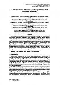 An Extended Approach based on Genetic Algorithm for Multi ... - SERSC