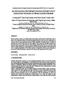 an extended network coding opportunity discovery scheme in ... - arXiv