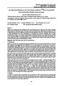 An Extended Study on the Correlation between 210Pb in ... - CiteSeerX