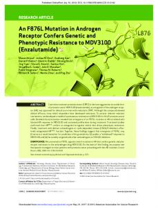 An F876L Mutation in Androgen Receptor Confers