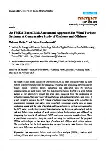 An FMEA-Based Risk Assessment Approach for Wind Turbine ... - MDPI
