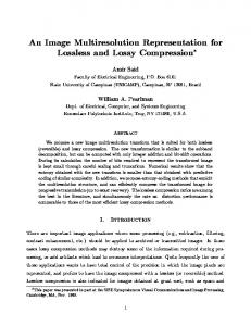 An Image Multiresolution Representation for ... - Semantic Scholar