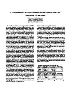 An Implementation of the Combinatorial Auction Problem in ECL ... - UCI