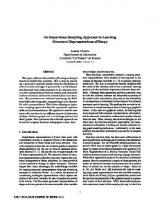 An importance sampling approach to learning structural ...